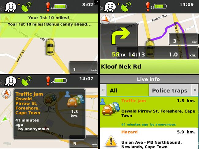 Waze screenshots