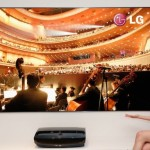 This is an image of LG's new product the Hecto laser projector