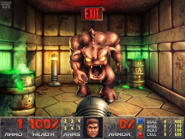 Image of newly-rendered doom