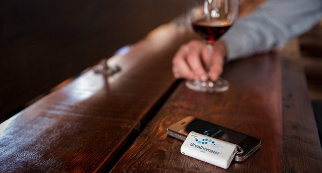 image of the breath test app for iPhone