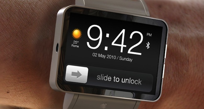 concept image of the iWatch