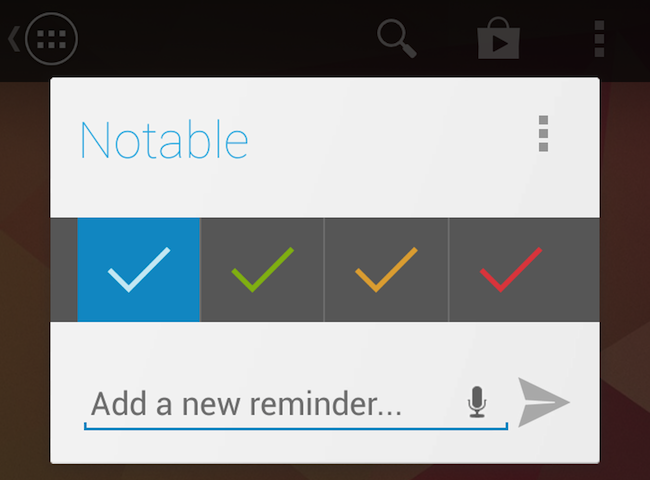 Screenshot of noteable