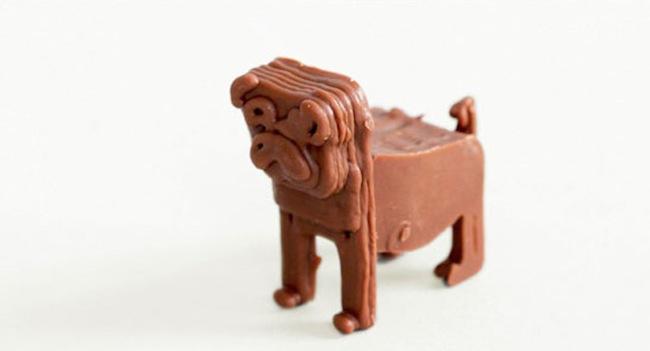 3D printed choc dog