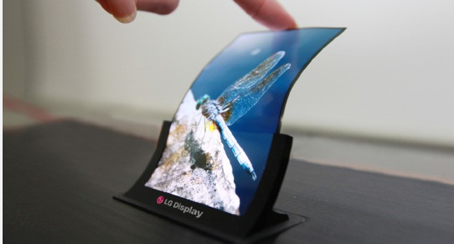 LG flexible screen demo
