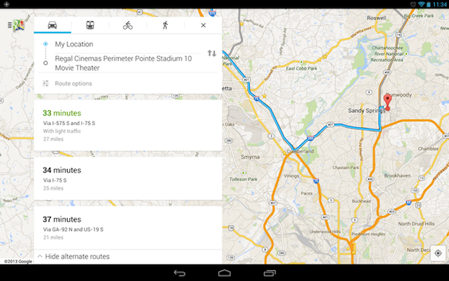 Maps Tablets Android