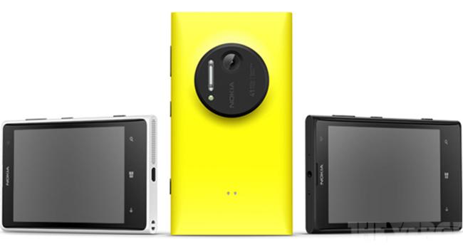 The colours of the Lumia 1020