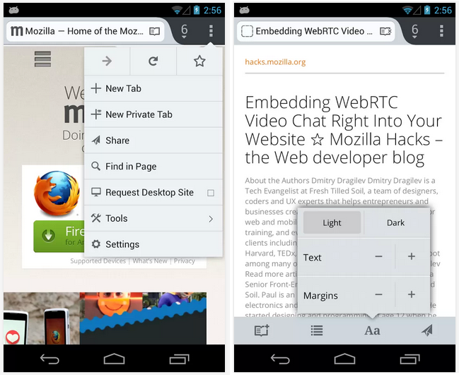 Firefox for Android hits Beta 23, loves sharing - Gearburn