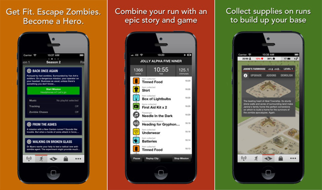 Zombies, Run! review: the fitness app featuring the threat of the