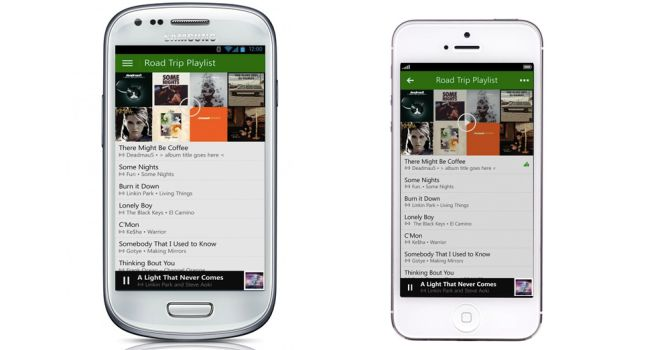ios and android Xbox Music