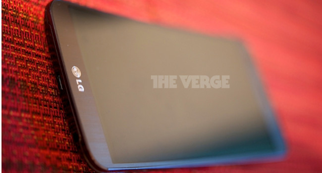 LG G Flex The Verge top