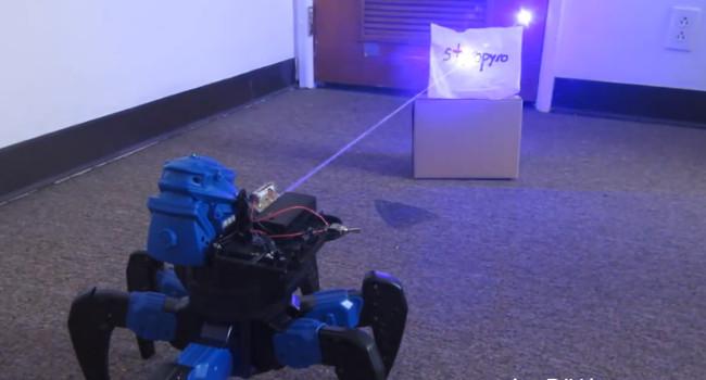 DIY laser spider drone