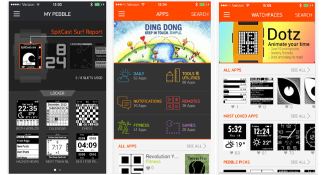 Pebble itunes app