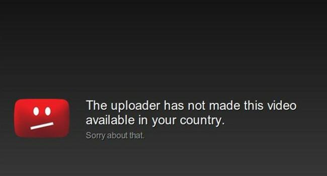 Youtube region block