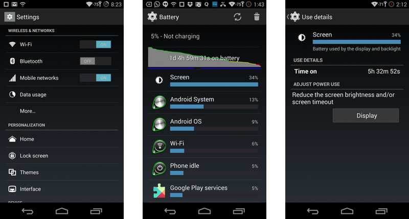 OnePlus One Settings & Battery Life