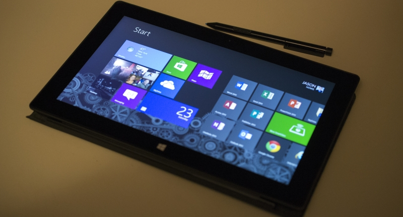windows 8 tablet interface
