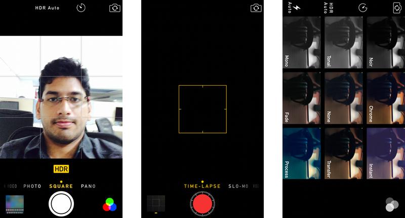 Apple iOS 8 Camera Modes