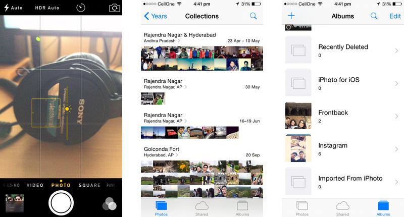 Apple iOS 8 Camera & Photos Apps