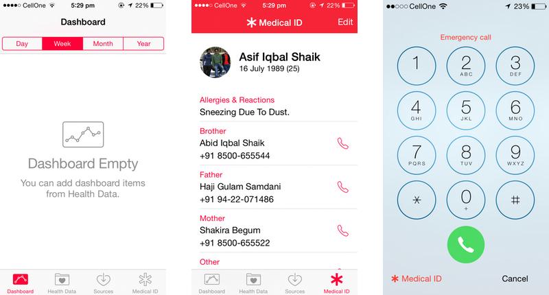 Apple iOS 8 Healthkit & Medical ID