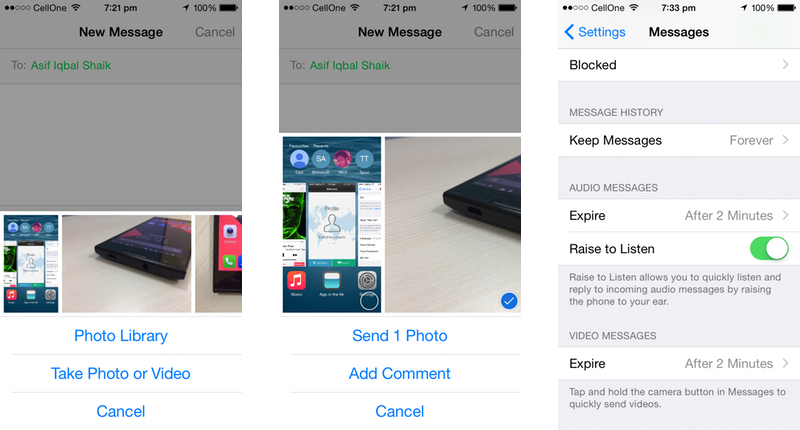 Apple iOS 8 Messages