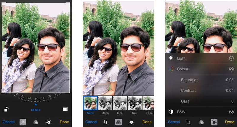 Apple iOS 8 Photos App Editing Options