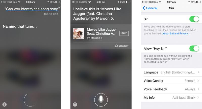 Apple iOS 8 Siri