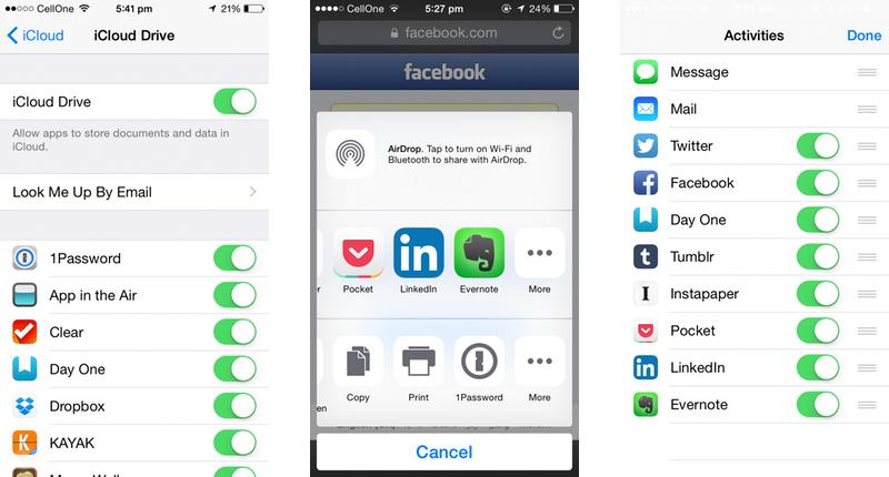 Apple iOS 8 iCloud Drive, Sharing, & AirDrop