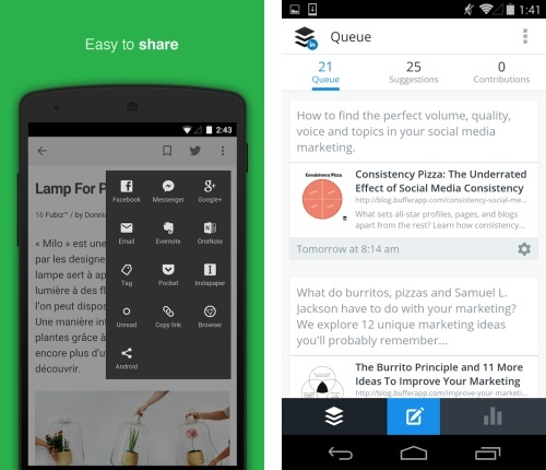 Feedly Buffer Android 1