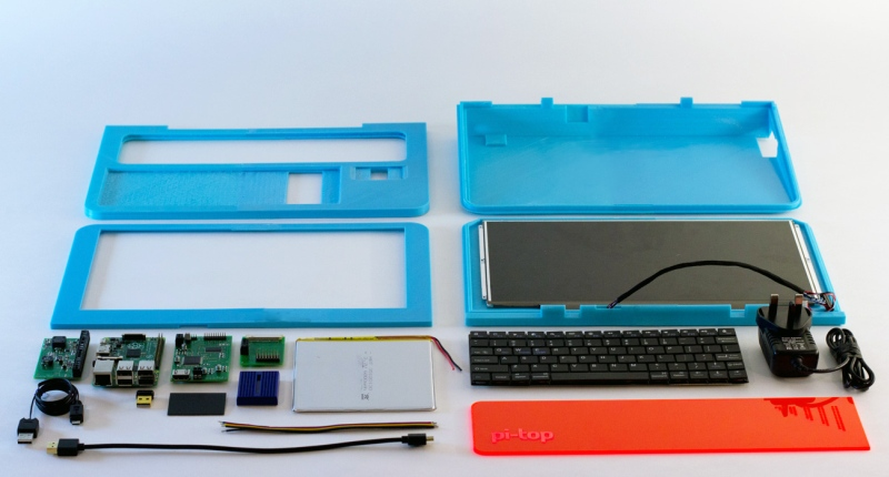 Pi-Top Raspberry Pi laptop components