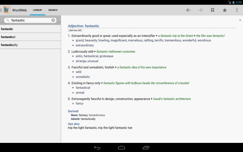 WordWeb Android