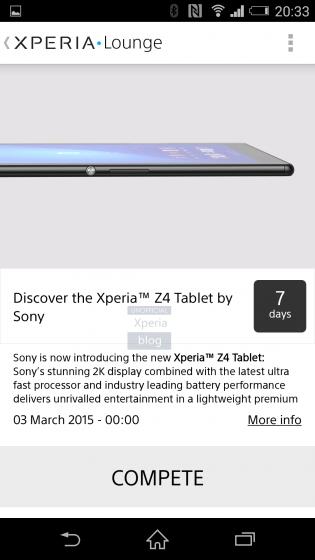 Sony Xperia Z4 Tablet leak XperiaBlog