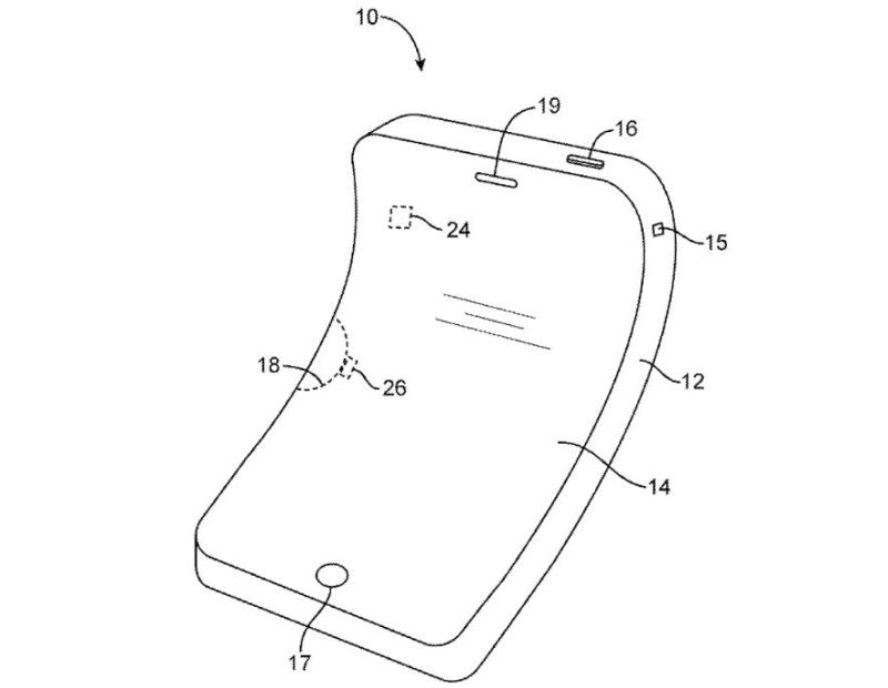 Apple Bendable phone patent