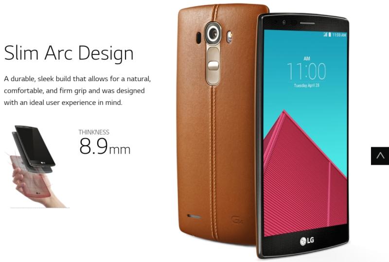 LG G4 leather back Google+ leak