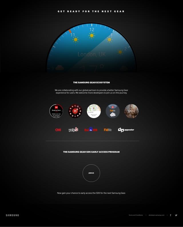 Samsung Galaxy Gear teaser circular fce
