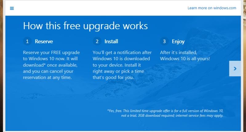 windows 10 free upgrade popup p4block