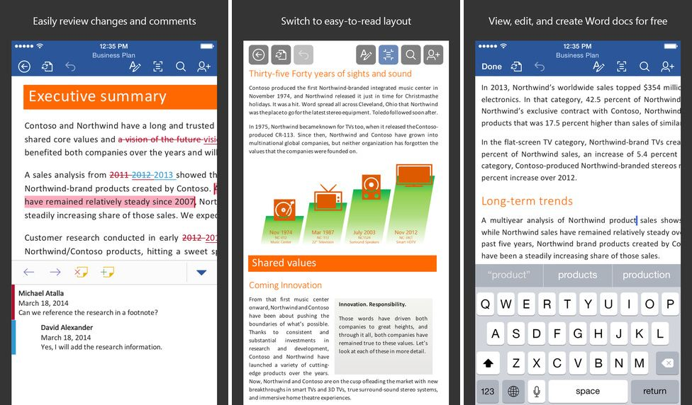 microsoft office for iOS