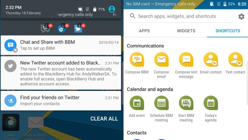BlackBerry PRIV review UI