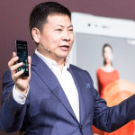Huawei CEO Richard Yu and the P9 phones.