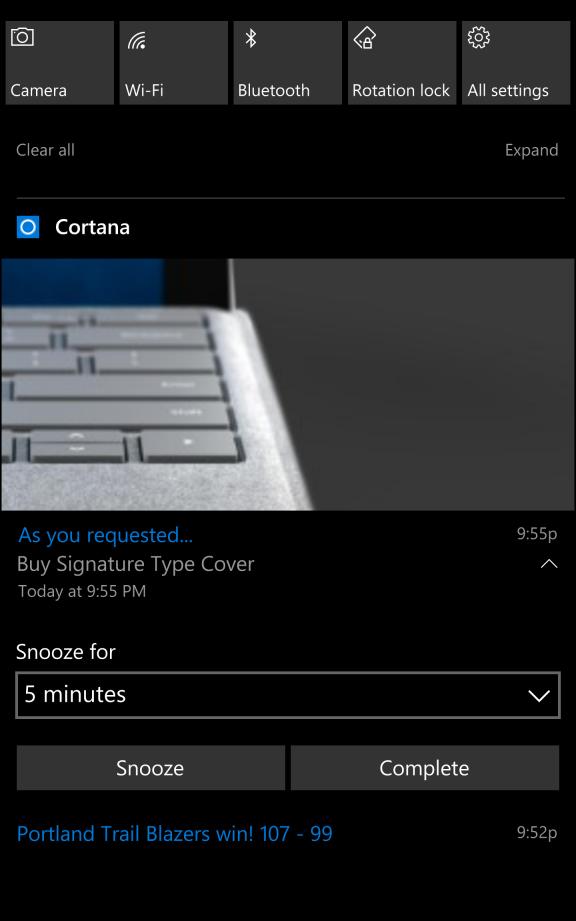 windows 10 mobile cortana