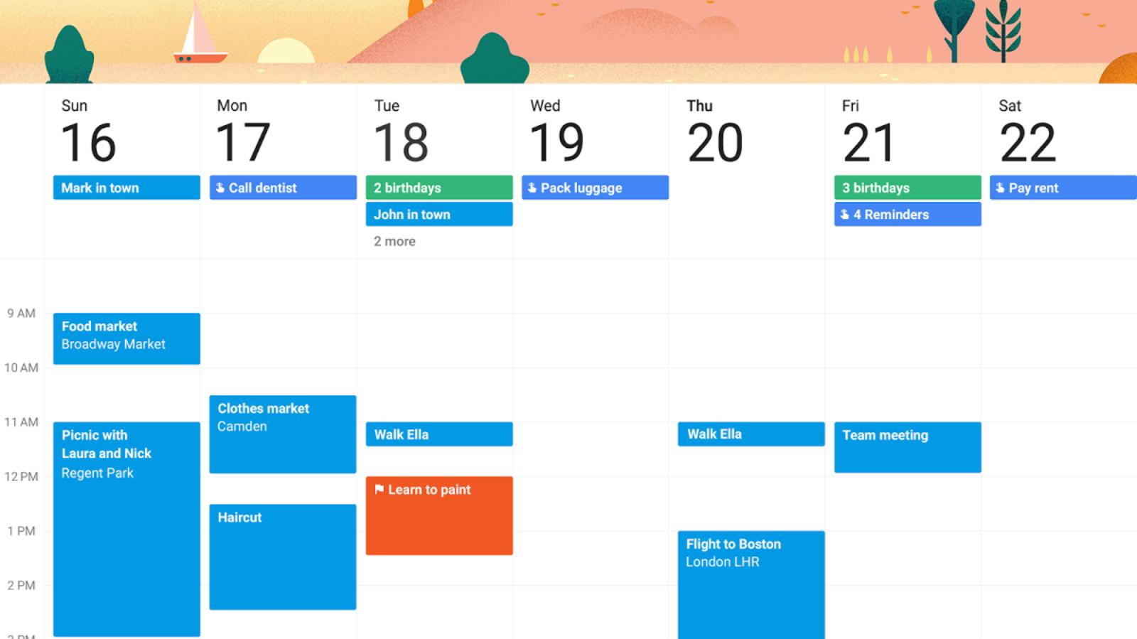 4 Alternatives To Microsoft S Dying Sunrise Calendar App Gearburn