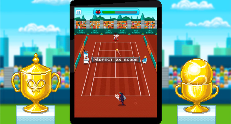 one tap tennis 800