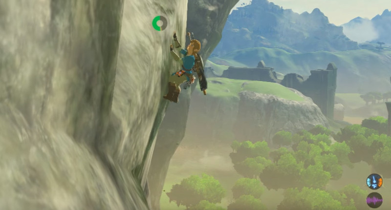legend of zelda botw climbing