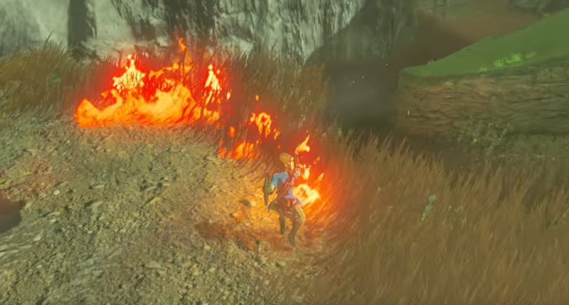 legend of zelda botw fire