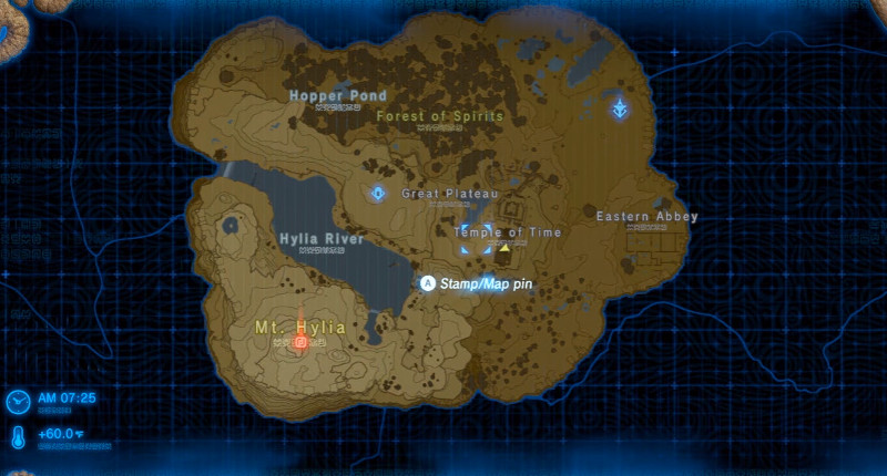 legend of zelda botw map