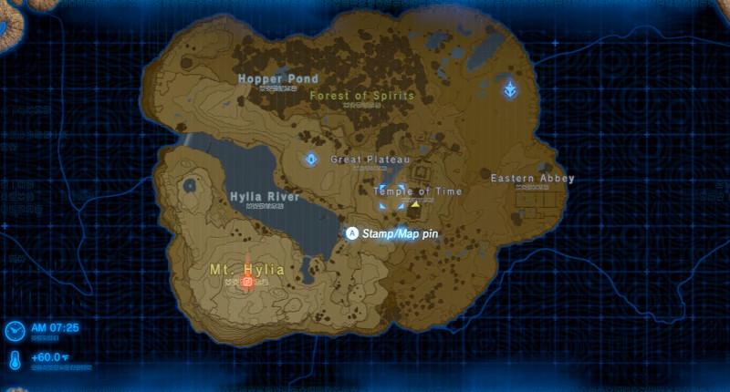 legend of zelda botw map