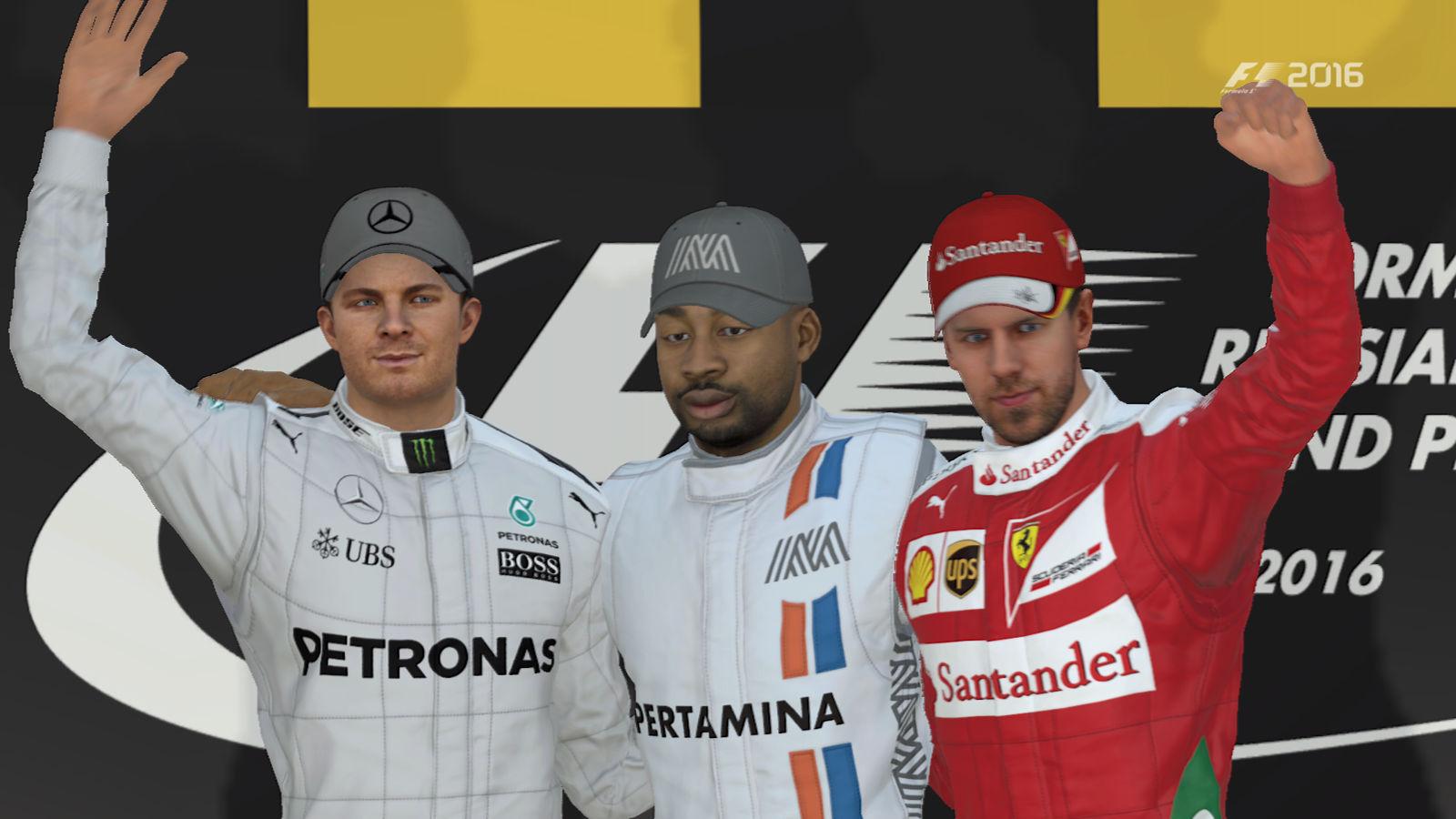 F1 2016 podium