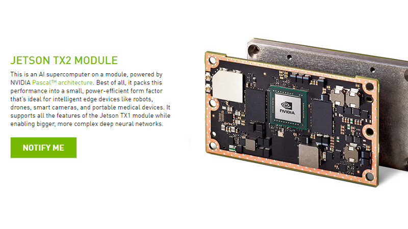 Nvidia launches beefy Jetson TX2 credit-card computer - Gearburn