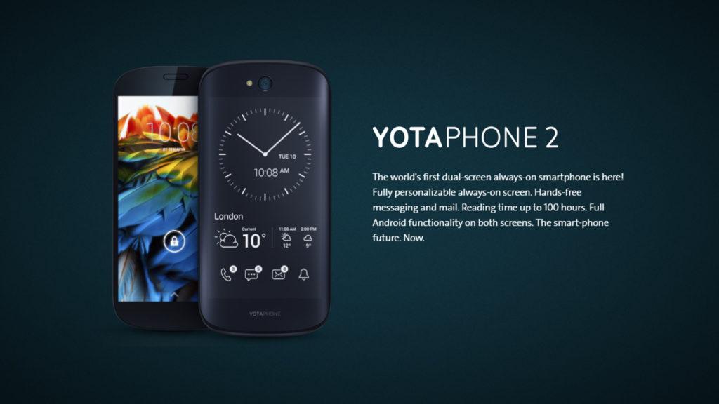 YotaPhone 2, e-ink smartphones