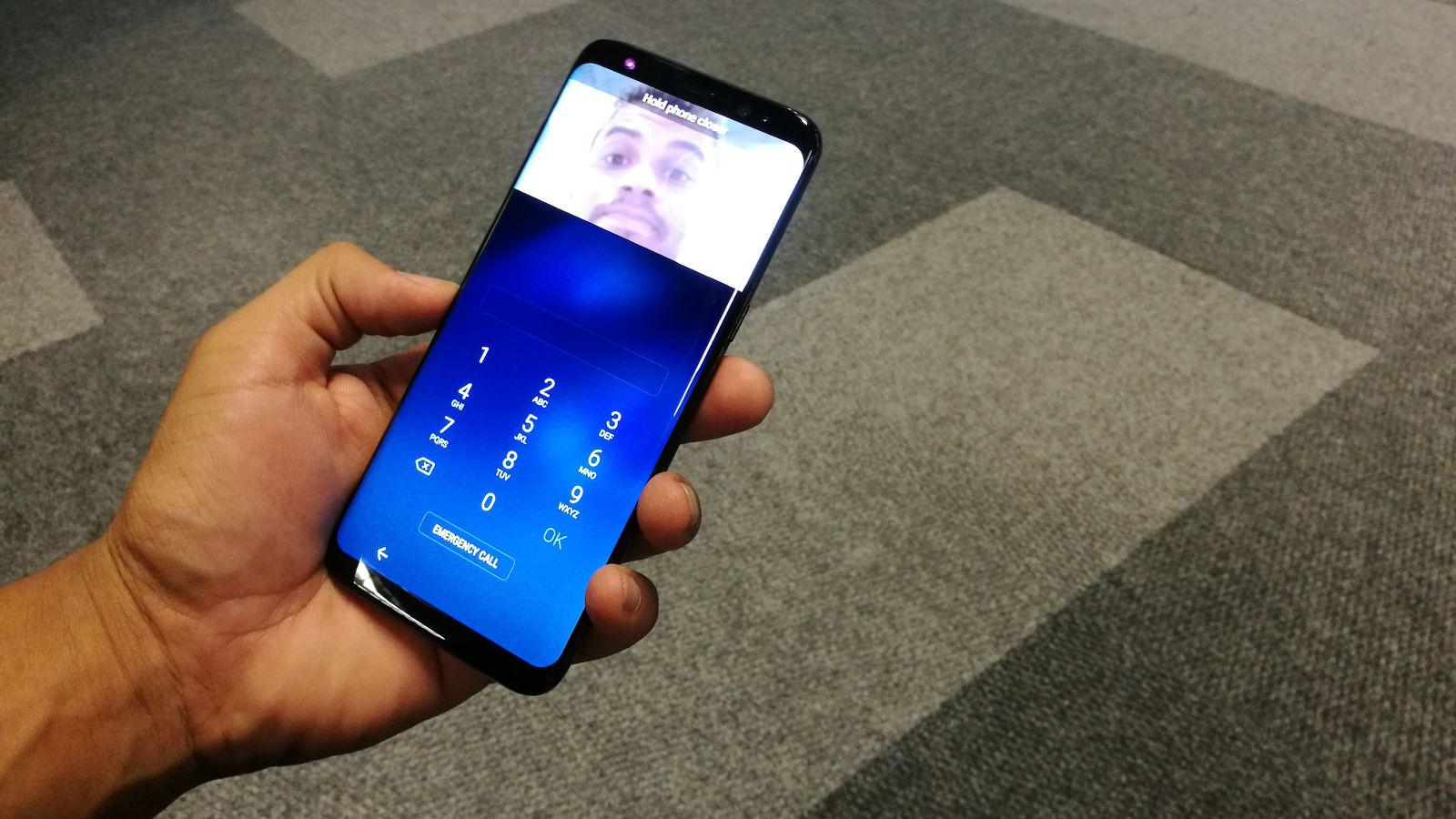 Samsung Galaxy S8 iris scanners