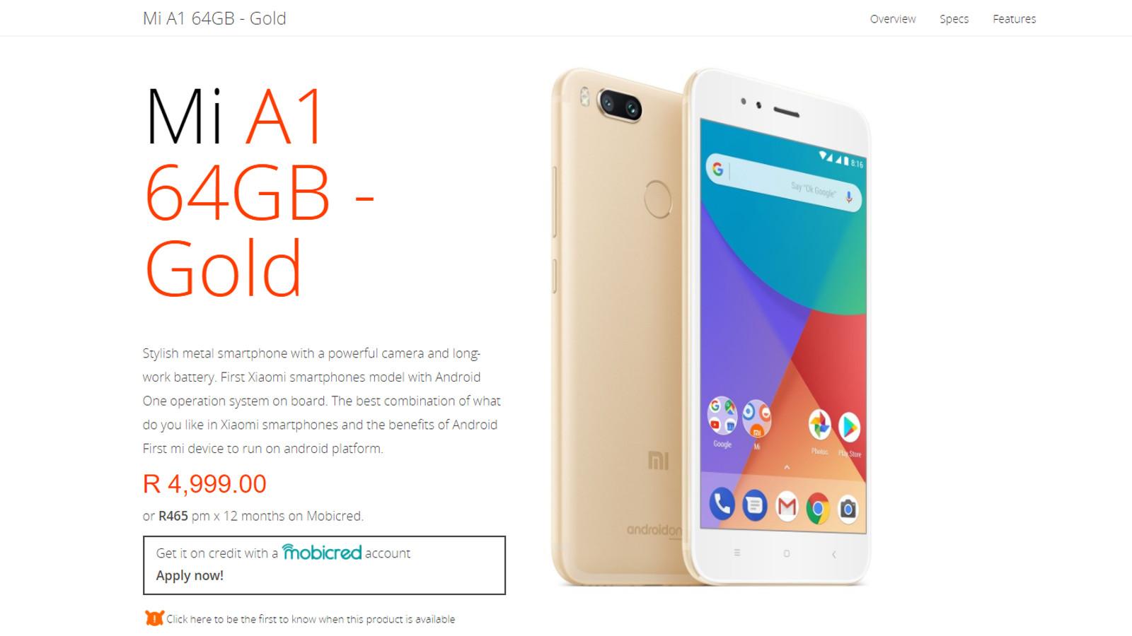 Xiaomi Mi A1,Xiaomi