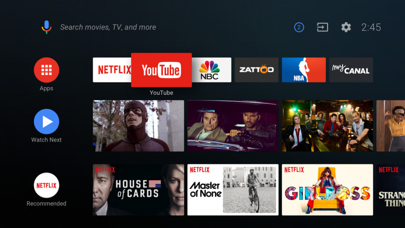 android tv 2018 page